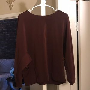Cute maroon long sleeved shirt